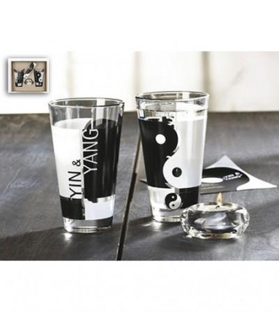 Set pahare sticla Yin & YANG